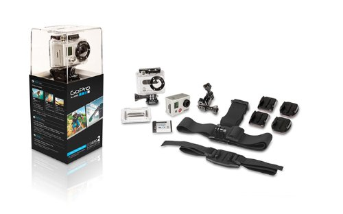 GoPro HD HERO2 Outdoor Edition - Videocámara deportiva de 11 Mp (vídeo Full HD 1080p, WiFi), plateado [importado]