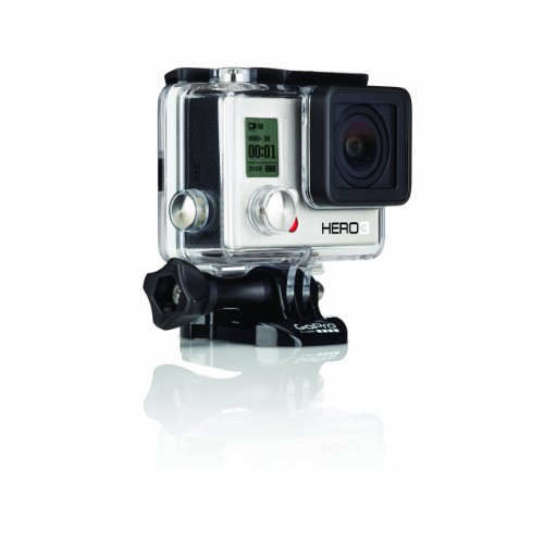 GoPro HERO3 White Edition - Videocámara de 5 Mp (estabilizador de imagen óptico, vídeo Full HD 1080p, resistente al agua 60m, WiFi) color blanco (versión 2014)