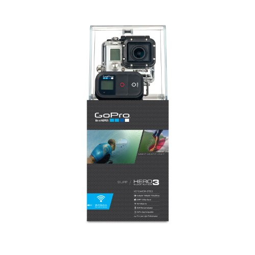 GoPro HERO3 Black Edition Surf - Videocámara de 12 Mp (estabilizador de imagen óptico, vídeo Full HD 1080p, resistente al agua, WiFi) color negro