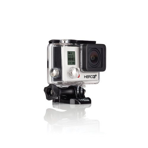 GoPro HERO 3+ Silver Edition - Videocámara deportiva de 10 Mp (vídeo Full HD, estabilizador, WiFi), plateado