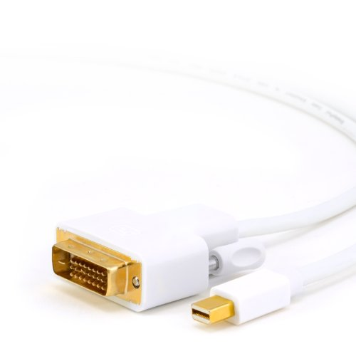 CSL cable de 2m (metros) Mini DisplayPort (MiniDP) a DVI | 1080p | cable de datos Apple/Lenovo | certificado | contactos chapados en oro de 24K | PC y APPLE / iMac, Mac, MacBookPro, MacBookAir / Lenovo ThinkPad / tarjetas gráficas (ATI/Nvidia)