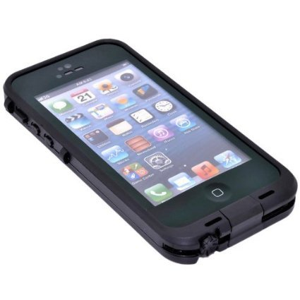Funda carcasa para Smartphone Apple Iphone 5 / 5S acuática sumergible mismas funciones Lifeproof Waterproof Color - Negro