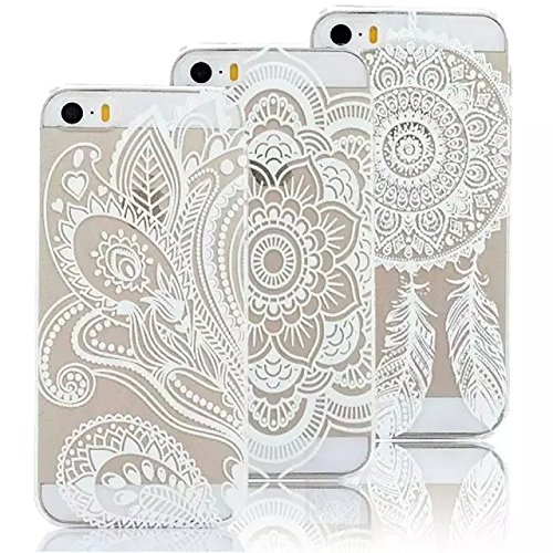 fa03a553090 Vandot 3 in1 Accesorios Set funda Caso terminal ultra delgado fino de silicona  para Apple iPhone 6 patrón delgado flexible transparente TPU silicona PC ...