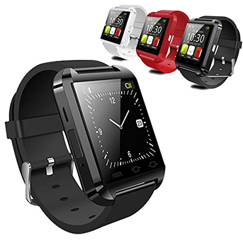 LEMFO Bluetooth Smart Watch Reloj Pulsera Inteligente U8 UWatch, Apto para Smartphones IOS Android Apple iphone 4/4S/5/5C/5S Android Samsung S2/S3/S4/Note 2/Note 3 HTC Sony Blackberry - Blanco